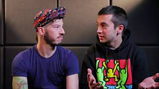 "fetus twenty one pilots says ""stay street"" for the first time / Tyler tries to speak Spanish"