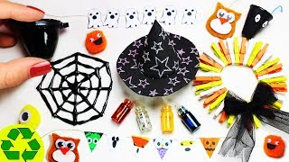 How to Make Halloween Miniature Decorations #2 - 10 Easy DIY Miniature Doll Crafts