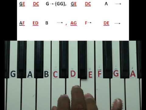 Jingle bells song keyboard lesson - YouTube