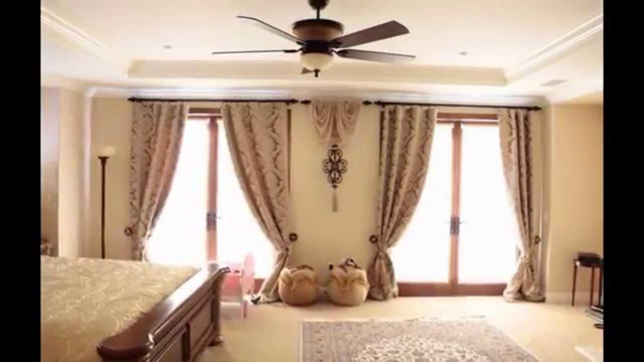 Дизайн оконных штор фото для зала