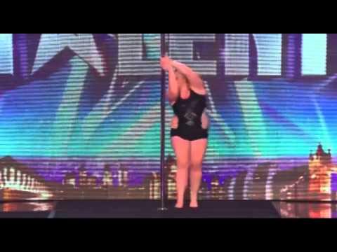 Tremenda bailarina de caño talla XL