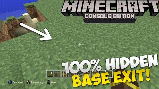 Minecraft: How to Make a 100% Hidden Base Exit!   [Xbox & Playstation]