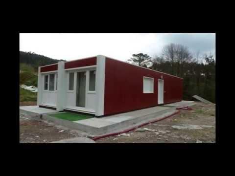 Transporte instalaci n y montaje de una casa contenedor youtube - Contenedor maritimo casa ...