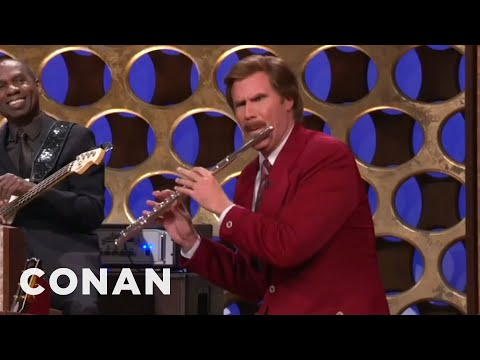 "Ron Burgundy s ""Anchorman"" Announcement - CONAN on TBS"