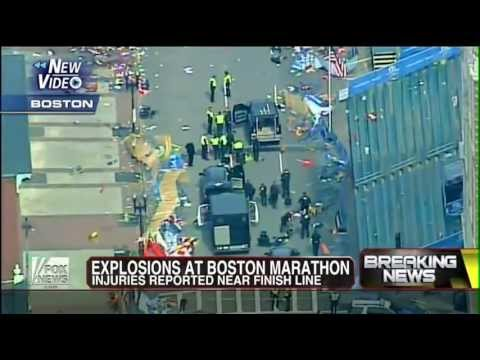 RAW FOOTAGE: Terrorism Strikes Boston Marathon As Bombs Explode 2013