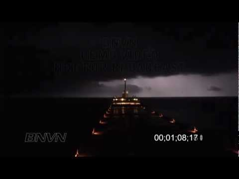 Edward L. Ryerson Great Lakes Shipping Storms With Lightning B-Roll