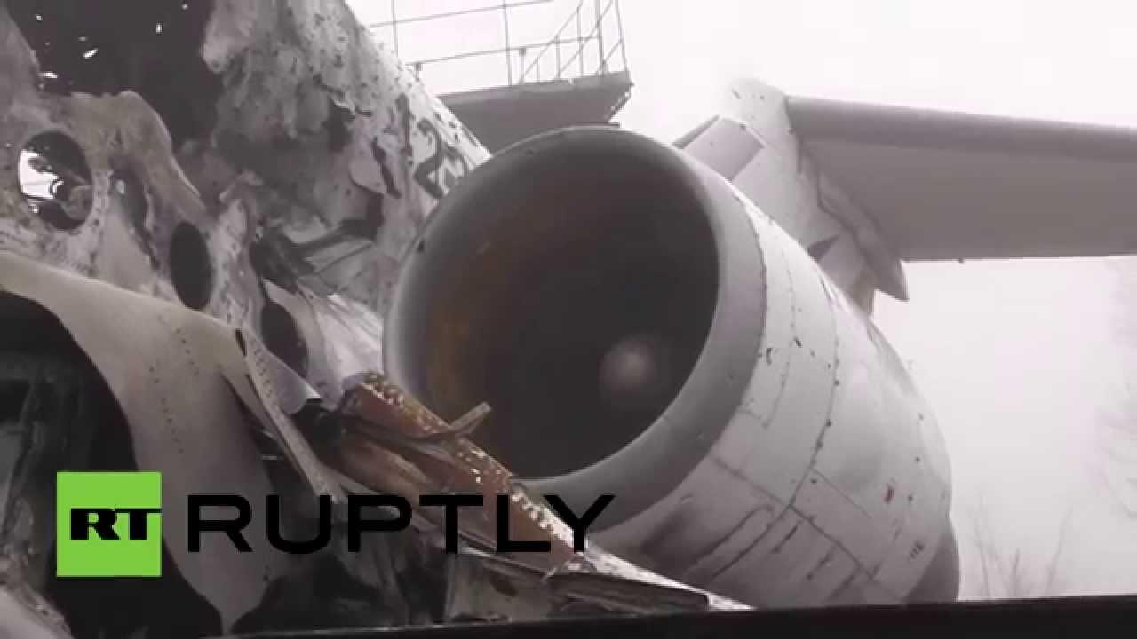 VIDEO: Apokalypsa na letišti v Doněcku