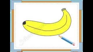 BÉ HỌA SĨ - Thực hành tập vẽ 119: Vẽ quả chuối