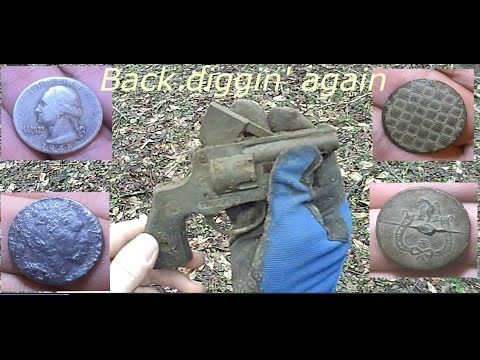 Metal detecting 1700's farm - silver, handgun, indian head, & more....