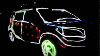 Kia Soul Light Painting