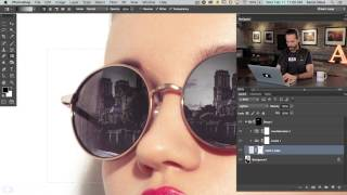 How to Add a Reflection to Sunglasses in Photoshop