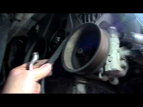 VW GOLF 14 GASOLINE. altenator. power steering belt removal
