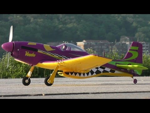 Lanyu Mini Electric RC P51 Maiden Flight Review