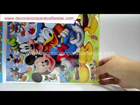 Aplique para el ponqué de cumpleaños con tema de Mickey Mouse Pato Donald