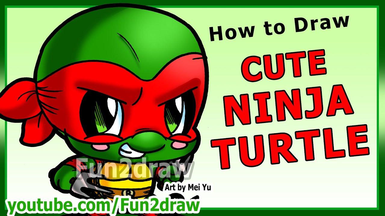 learn to draw a ninja turtle art lessons fun2draw
