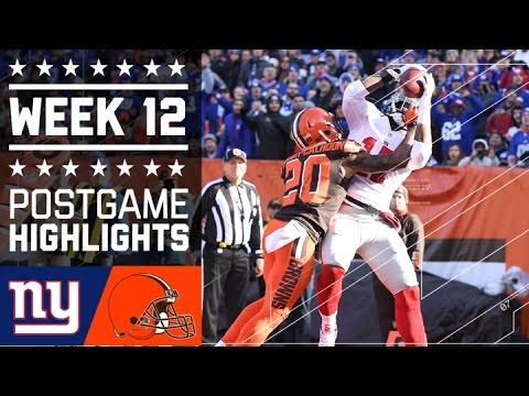 Giants Vs Browns Nfl Week 12 Game Highlights