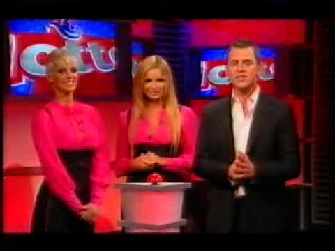 Sarah Harding and Nadine Coyle lottery machine the lottery 07