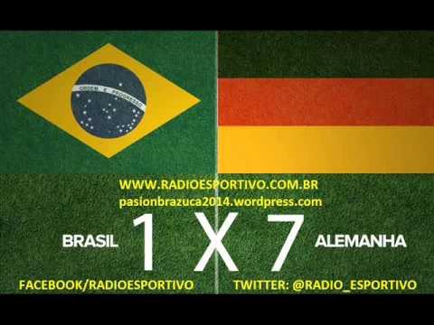 Brasil 1 x 7 Alemanha - Narração: José Carlos Araújo (Transamérica) Copa do Mundo - 08/07/2014