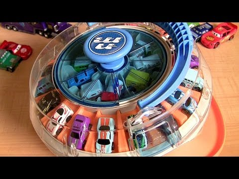 36 Rotating Cars Carousel Display Playset Using Micro Drifters & Micro Cars Disney Pixar Auto
