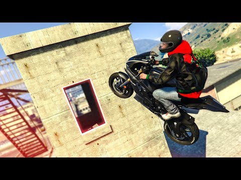 INCREDIBLE MOTORBIKE STUNT! - (GTA 5 Stunts & Fails)