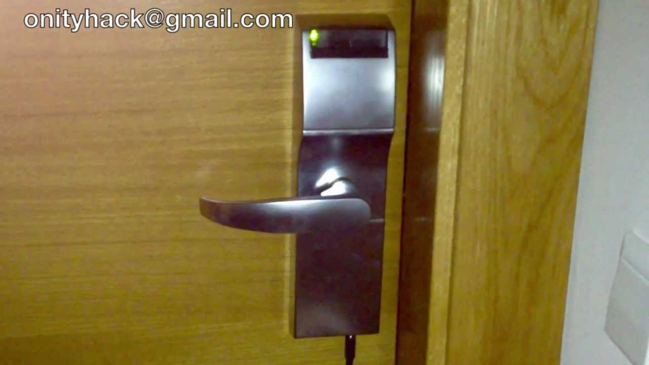 Hack Hotel Magnetic Lock Door Onity 2012 Youtube