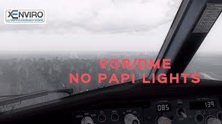 X-Plane 11 Realistic 737-800 VOR/DME Hard Landing | Bad Weather