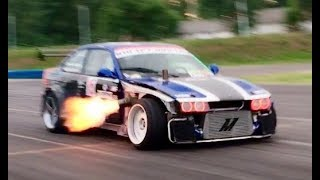 2JZ Anti-Lag FLAME THROWER BMW E36 Drifting - Nagy Ferenc | DRIFT MATSURI 2017