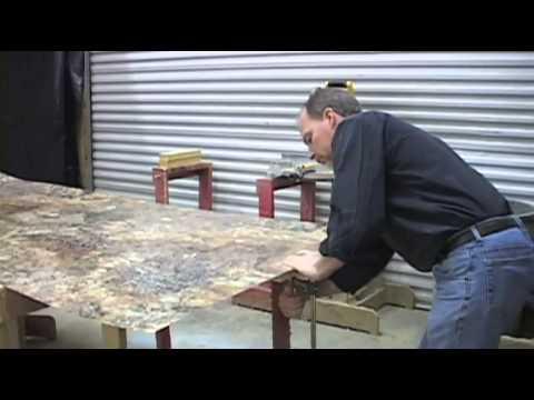 DIY Laminate Countertop and Bevel Edge Trim - YouTube