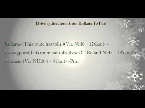Tourism & Travel - Driving directions from Kolkata To Puri