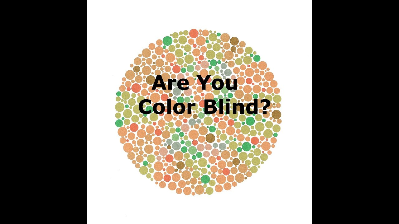 Are You Color Blind Youtube