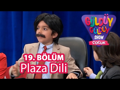 Güldüy Güldüy Show Çocuk 19. Bölüm, Plaza Dili Skeci