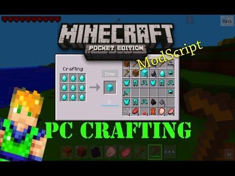 MINECRAFT PE PC CRAFTING MOD!
