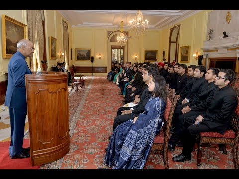 President Kovind meets officer-trainees of 2017 batch of the Indian Foreign Service