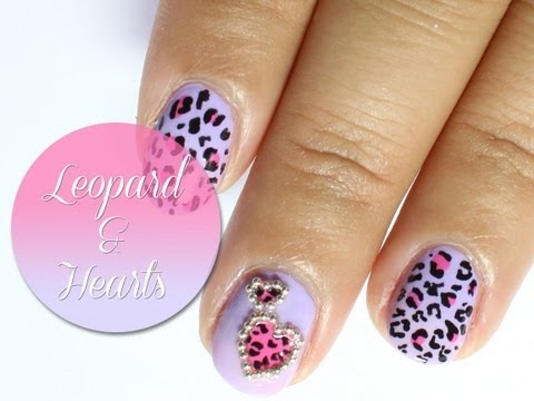 Valentine leopard heart nail art tutorial: Collaboration