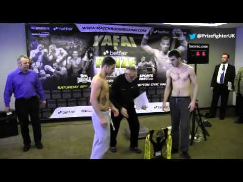 Betfair Prizefighter Welterweights III weigh in