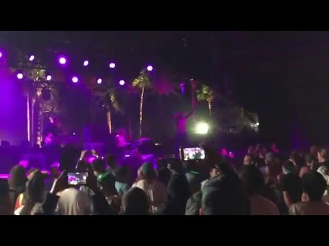 DEATH GRIPS on stage with Tyler, The Creator in the mosh pit at COACHELLA 2016