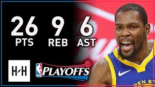 Kevin Durant Full Game 3 Highlights Warriors vs Spurs 2018 Playoffs - 26 Points, 9 Reb, 6 Assists!