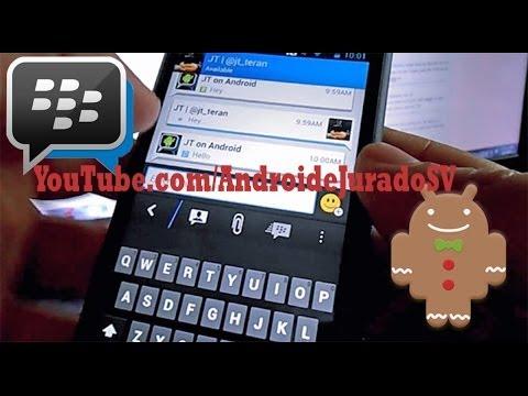 Blackberry Messenger Para Android 2.3 Gingerbread y armv6 100% Funcional
