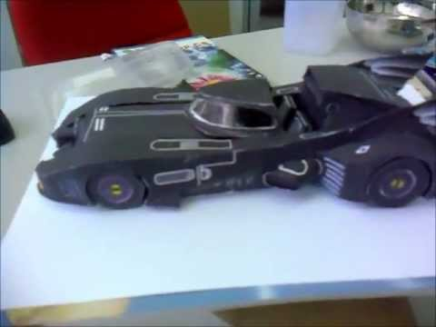 Batmobile 1989 Make From Paper Papercraft Diy Youtube