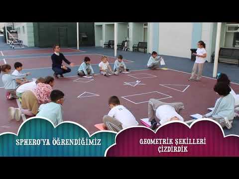 İSTEK Kaşgarlı Mahmut Okulları Sphero ile Geometri öğreniyor.