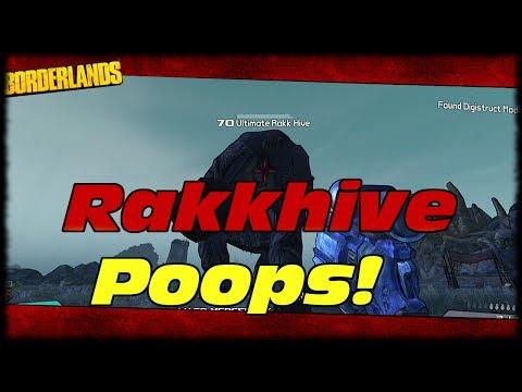 Borderlands I Made Rakkhive Poop On Me! Borderlands How To Make Rakkhive Poop Easter Egg Attack!