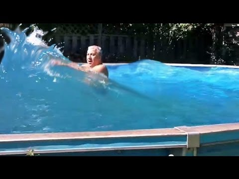 how to win a bet with a backyard wave pool youtube