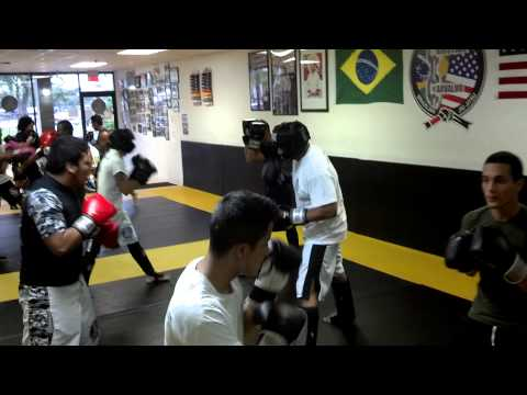Kick Boxing Sparring July 2013 Video 1