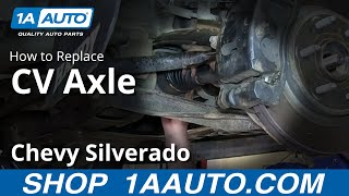 How To Install Replace Front Axle CV Joints 2007-13 Chevy Silverado GMC Sierra 1500
