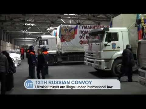 13th Russian 'Aid' Convoy Enters Donetsk: Ukrainian border guards not able to look inside trucks