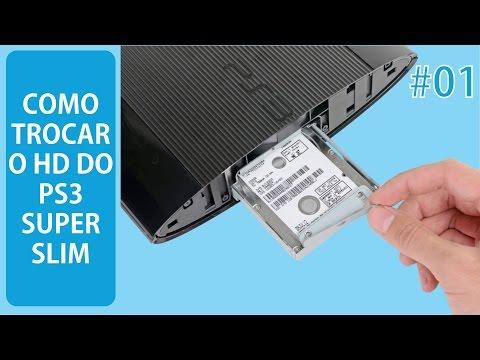 Como trocar o HD do PS3 Super Slim