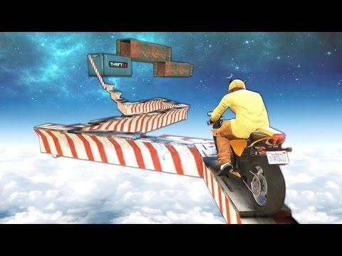 ГРАНДИОЗНЫЙ МОТОПАРКУР НА УРОВНЕ СТРАТОСФЕРЫ В GTA 5 ONLINE ( ГТА 5 ГОНКИ )
