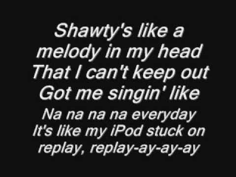 Iyaz - Replay (Lyrics) on screen [HQ] Video