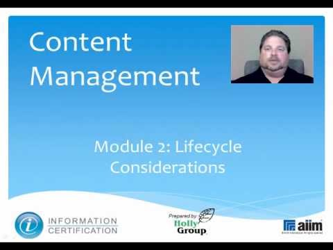 Content Lifecycle Considerations
