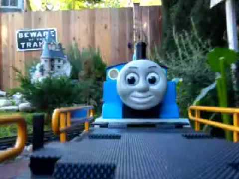 Thomas Meets Amtrak in the Garden - - Lionel & LGB